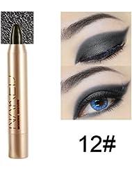 ROPALIA Professionnel Maquillage Crayon pour Les Yeux Fard à Paupières Eye Shadow & Liner Combinaison Maquillage Paillettés Ombre à Paupières Eyeliner Crayon