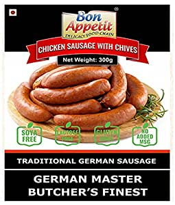 Bon Appetit Chicken Sausage with Chives, 300g