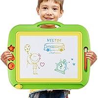 Pizarra Magica para Niños, Grande Tablero de Dibujo Infantil Borrable Pizarra Mágica Magnética Colorido para Doodle y Escritura, Portátil Juguetes Educativos y Regalo de Novedad para Niños, 43 x 37 cm