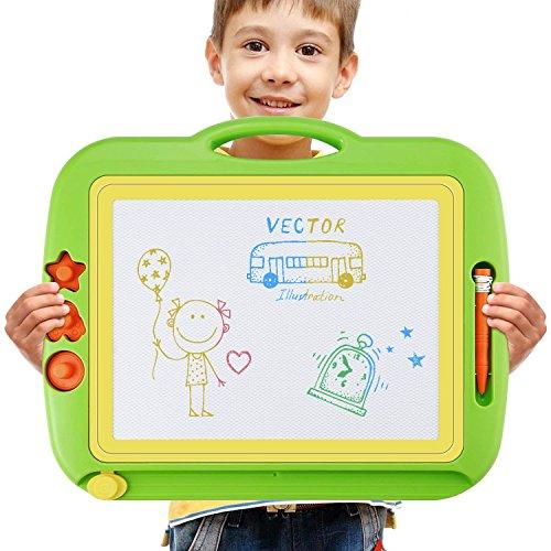 Doodle Lavagna Magnetica Magica Grande Doodle Tavolo da Disegno  Cancellabile per Bambini con 4 Colors e c8533481a44