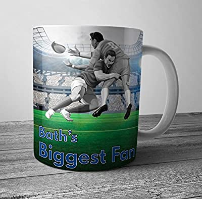 Bath's Biggest Fan Rugby Mug / Cup - Birthday Gift / Stocking Filler by AK GIfts