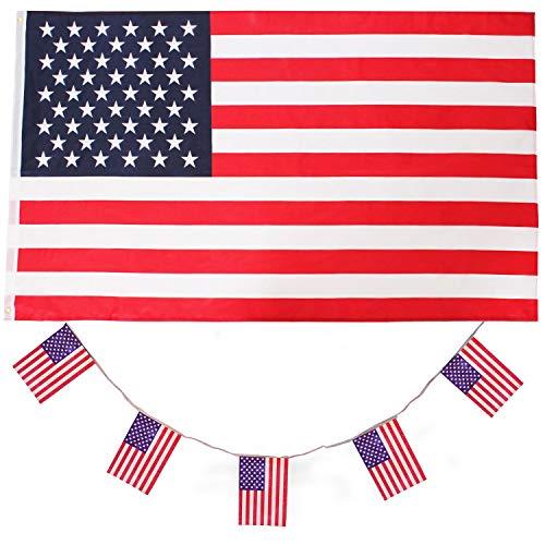 ILOVEFANCYDRESS Amerika-USA Dekoration KOSTÜM VERKLEIDUNG =MIT+OHNE ZUBEHÖR=Fussball Sport LÄNDER ABMESSUNGEN VON 152cmX91cm=Flagge ()