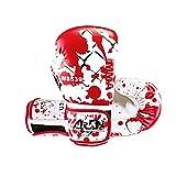 LJJTDS Boxhandschuhe Muay Thai Kickboxen Pro Trainingshandschuhe Boxsack Kampf Kampf Sparring Stanzen Handschuhe Atmungsaktiv 8oz, 10oz Für Erwachsene,8oz