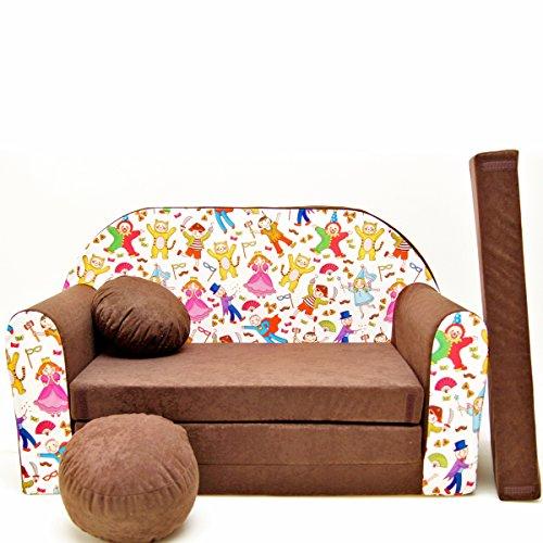 Barabike K31-b Bébés pour Enfants Mini Canapé bébé Canapé lit Pouf Lot de 3 en 1 d'oreillers en Mousse