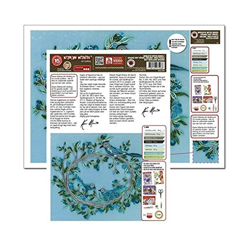 Karen Marie Klip Papirmuseets By A/S Quilling Template Wreath with Birds Art Quilling (ohne Pappe) (Template Quilling)