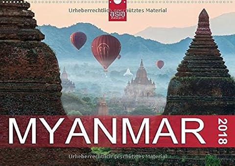 FASZINIERENDES MYANMAR (Wandkalender 2018 DIN A2 quer): Das goldenes Land in 12 bezaubernden Fotografien (Monatskalender, 14 Seiten ) (CALVENDO Orte) [Kalender] [Jun 14, 2017] INSIGHT,