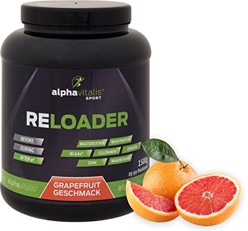 RELOADER - Post Workout Shake mit Maltodextrin, Whey Protein, BCAA, Creatin, L-Glutamin - 1500g - Grapefruit - Nährstoffe für Muskelaufbau und schnelle Regeneration