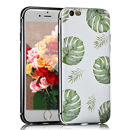 iPhone 8 Hülle, Sunroyal TPU 3D Handyhülle Muster Case Cover Für iPhone 7 / iPhone 8 4,7 Zoll (Bunt Vogel) Silikon Backcover Case Handy Schutzhülle - Cover Cartoon Garten Aquarell Design Mehrfarbig 3D Pattern 7