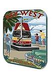 Wanduhr Urlaub Reisebüro Deko Key West Acryl Wanduhr Retro