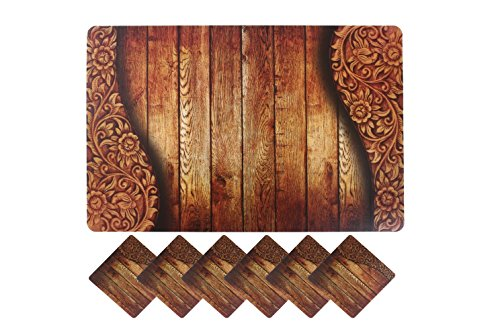 Yellow Weaves 6 Piece Dining Table Placemats With Tea Coaters