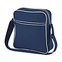 Bagbase Retro Flight / Travel Bag (7 Litres) (One Size) (French Navy/White)