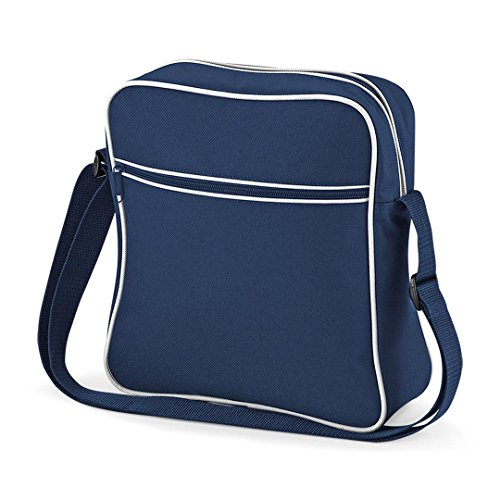 Bag Base mixte Bg016fnwh Retro Flight Bag, Français Bleu marine/blanc, Medium