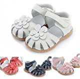 Toddler Baby Little Kid Girl Genuine Leather Soft Closed Toe Fashion Beach Sandals Su...