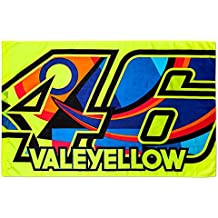 Valentino Rossi VR46 Moto GP 46 ValeYellow Bandera Oficial 2017