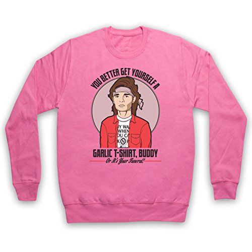 Inspiriert durch Lost Boys Edgar Frog Get Yourself A Garlic T-Shirt Buddy Inoffiziell Erwachsenen Sweatshirt, Rosa, Medium Lost-t-shirt Sweatshirt
