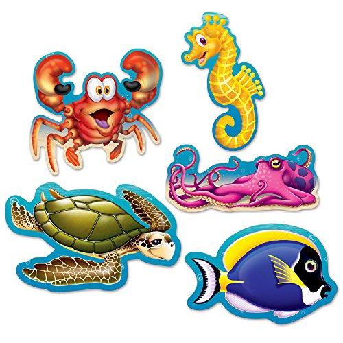 Beistle 54709 Mini-Ausschnitte unter dem Meer, 12,7 cm, mehrfarbig (Artikel Unter Dem Meer)