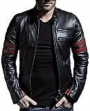 PRIME Men's Polyurethan Leather Jacket RL-01 (RL-Black, M)