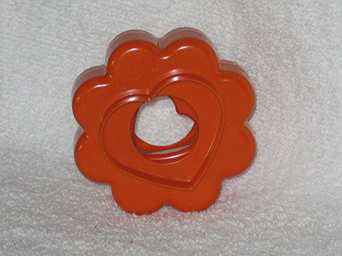 Vintage Tupperware Nistkasten Cookie Cutter Set Cranberry Rot