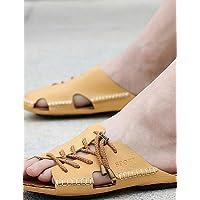 NTX/Herren Schuhe Outdoor/Athletic/Casual Leder Hausschuhe braun/gelb/weiß