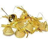 Arbre de Noël decoration doré fer givré nœud papillon grelot de Noël ensemble de 8