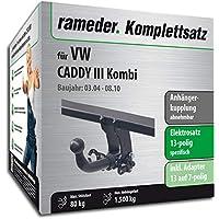 Rameder Komplettsatz 13pol Elektrik f/ür VW Caddy IV Kombi Anh/ängerkupplung abnehmbar 143346-14302-1