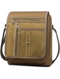 BAGZY Vintage Borsa Tracolla da Uomo Ipad Borsello Borse a Spalla Tela  Sacchetto Crossbody Sling Sport Canvas Scuola Messenger Bag per… dd2fdc38727