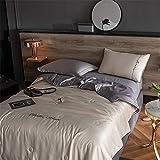 Trapunta estivo.Estate di seta ghiaccio lavato è colore solido nordico aria condizionata stanza pisolino ricamo biancheria da letto studente dormitorio macchina lavabile trapunta (2,0 * 2,3 m)