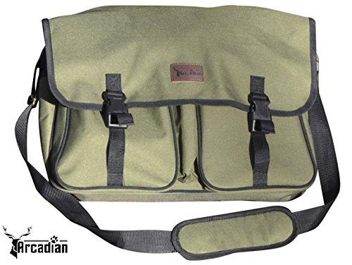 XL Hunde Spiel Tasche von Arkadischer–Extra, große Größe, strapazierfähig, wasserfest mit mehreren Taschen und verstellbarer Gurt.