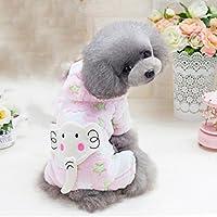 FLAMEER Ropa de Perro Gato Pijamas Mascotas Transpirable Traje de Disfraz de Halloween Fiesta - Rosa