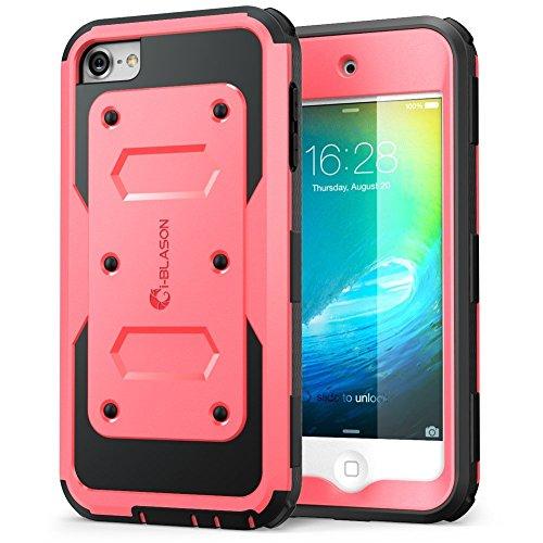 Apple iPod Touch 6 / 5 Generation Hülle, i-Blason Armorbox Case für iPod mit eingebauter Displayschutzfolie (Pink) (Ipod Touch 5 Lautsprecher)