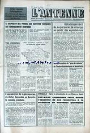 ANTENNE (L') [No 7775] du 03/02/1972 - LE DISP...
