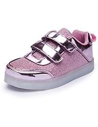 Feicuan Unisex LED Intermitente Zapatos con Luces USB Charging Sport zapatillas de deporte