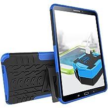 "KATUMO® Funda Transparent Gel Galaxy Tab A6 10.1 pulgadas, Carcasa de Piel Protectora Case Cover para Samsung Galaxy Tab A6 10.1""(SM-T580/580) Funda Dura Cubierta Silicona Cubrir-Azul"