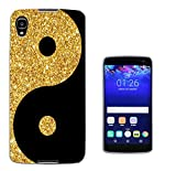 003250 - Gold and black ying yang Design Alcatel idol 4