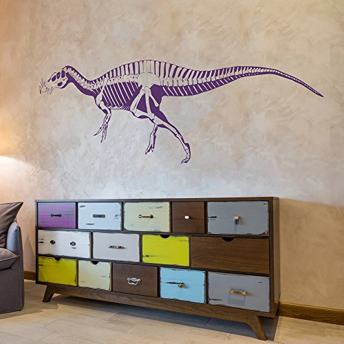 Suchomimus Esqueleto Silueta dinosaurio Etiqueta de la pared Tatuajes de pared Arte disponible en 5 tamaños y 25 colores Medio Amarillo limón