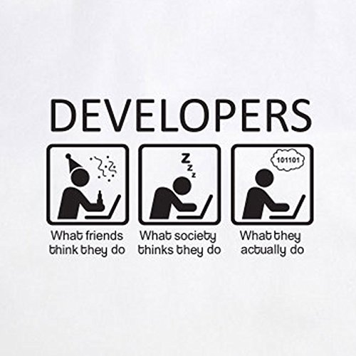 Developers - Stofftasche / Beutel Blau