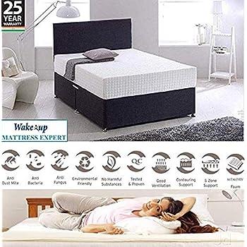 Wake-Up Ortho Memory Foam 78x72x8-inch Mattress, King Size, White