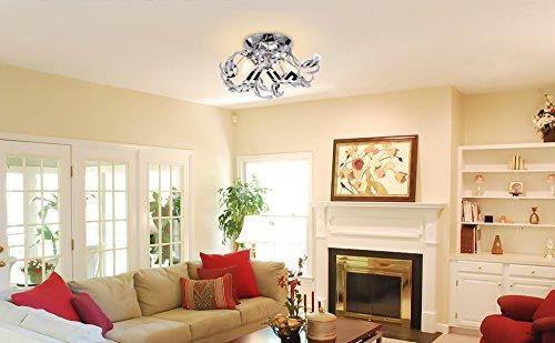 Plafoniere Cristallo Bagno : Plafoniera led soffitto lampadario soggiorno cristallo
