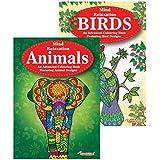 Martello Dieren & Vogels Volwassen Kleurboeken, Ontspanning Anti Stress Ideaal Xmas Gift Pack van 2