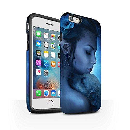 Officiel Elena Dudina Coque / Matte Robuste Antichoc Etui pour Apple iPhone 6+/Plus 5.5 / Félins/Léopard/Guerrier Design / Les Animaux Collection Le Calin/Chiot/Chien