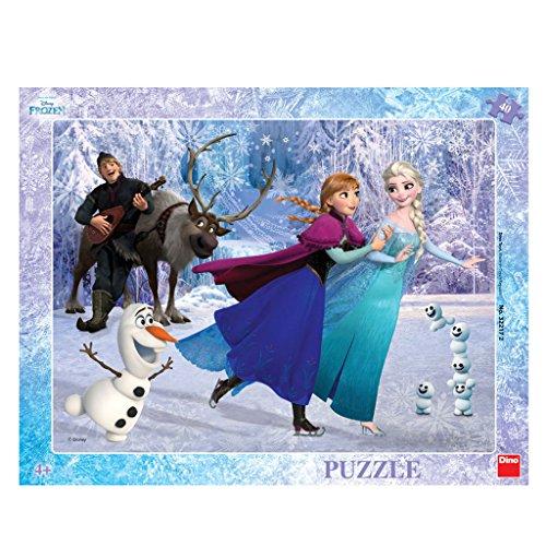 wertiger Schreibtisch Puzzle mit Rahmen;Disney Frozen Motiv, 40 Stück (Disney Frozen Platten)