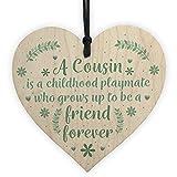 Best Cousin Girls - RED OCEAN Cousin Friendship Gift Wooden Heart Chic Review