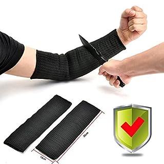 Yosoo, kevlar sleeve, arm protection, burn-resistant, 1pair, black