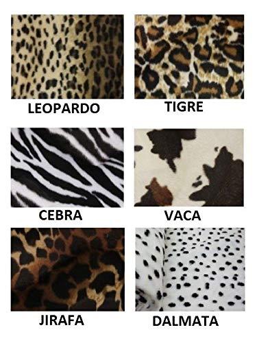 DISBACANAL Tela de Mutón con Estampado de Animales - Leopardo