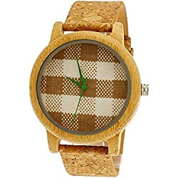 'Pure Time® Designer Limited Edition Ladies Organic Vegan Natural Wood Watch with Cotton Dial + Watch Box