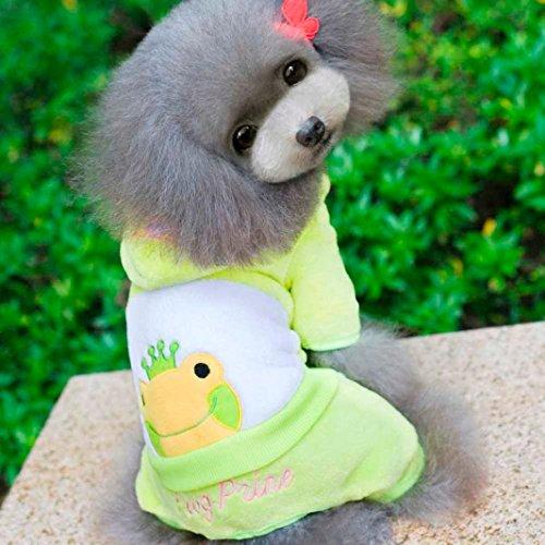 Kostüm Hoch Beine - Ninasill ღ ღ Pet Puppy Vier Beine Coat Kleidung Apparels Winter Warm Kostüm Pullover Casual Medium Gelb