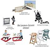 Safety 1st Timba Mitwachsender extragroßer Hochstuhl (mit abnehmbarem Tisch, 60 x 50 x 90 cm) buchenholz Bild 7