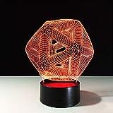 Crjzty Schlafzimmer Nachtlicht Tischlampe 3D Lampe Led Home Veilleuse Plexiglas Platte Lampara Infantil Farbwechsel Bulbing Kinder Spielzeug