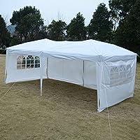 Gartenpavillon Partyzelt Bierzelt Pavillon Gartenzelt Hochzeit Festzelt Zelt 3 x 6 m Farbwahl (Weiß)