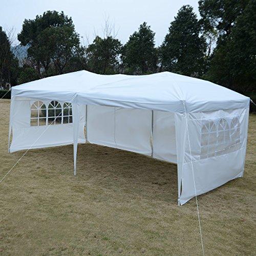 FDS Gartenpavillon Partyzelt Bierzelt Pavillon Gartenzelt Hochzeit Festzelt Zelt 3 x 6 m Farbwahl...